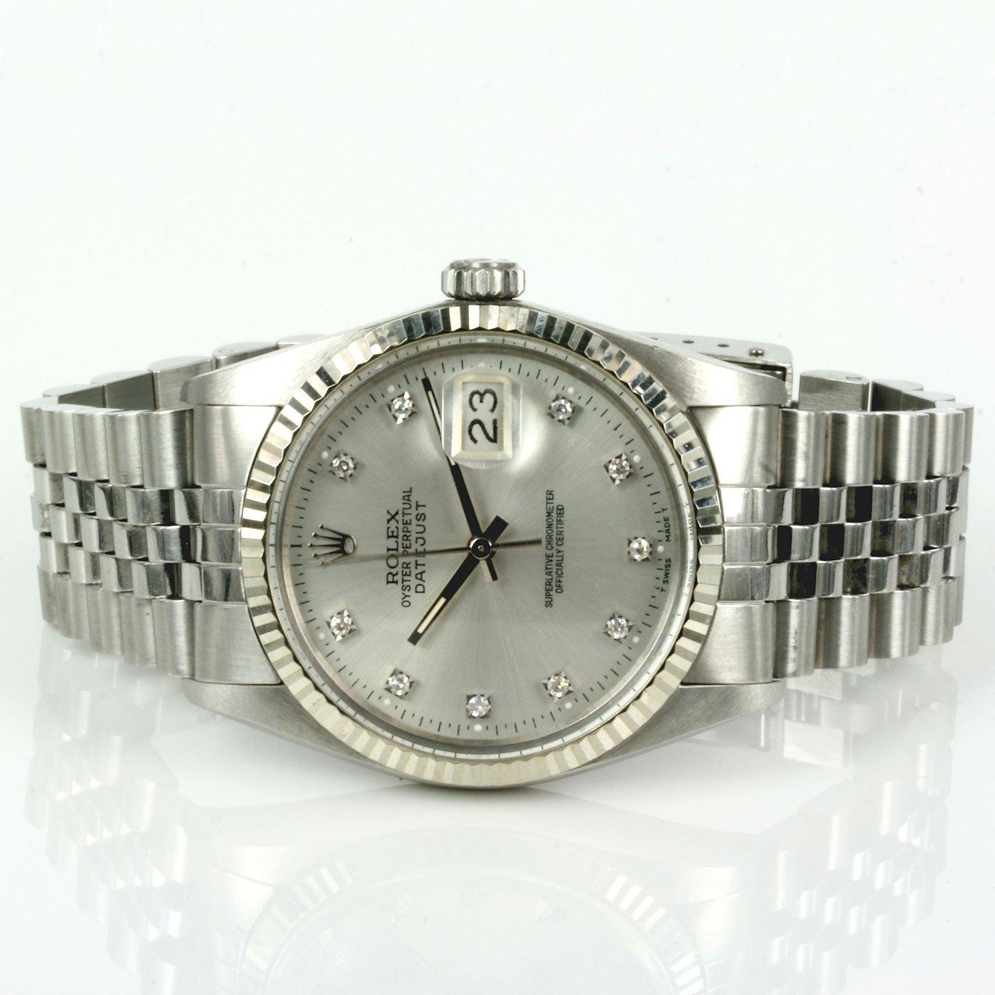 Diamond dial Rolex datejust model 16014
