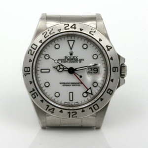White dial Rolex Explorer II Model 16570