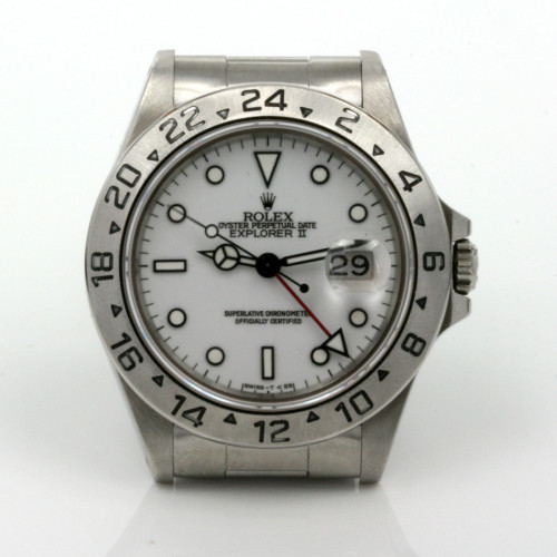 White dial Rolex Explorer II Model 16570