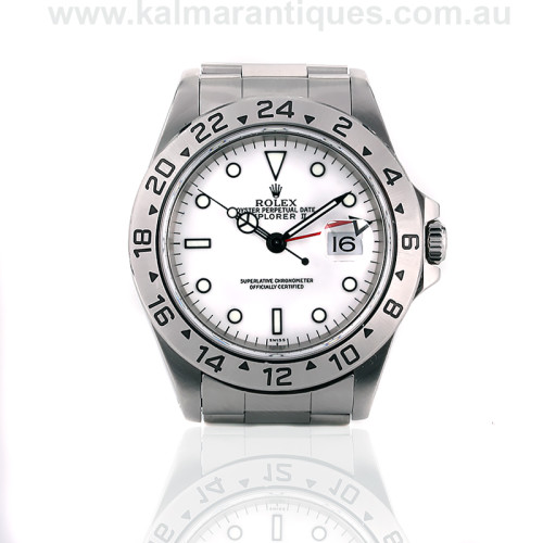 White dial Rolex Explorer II reference 16570