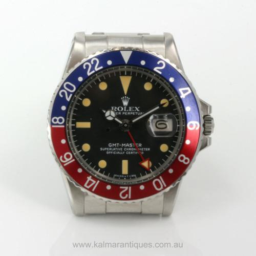 Rolex GMT Master I model 1675 pepsi bezel