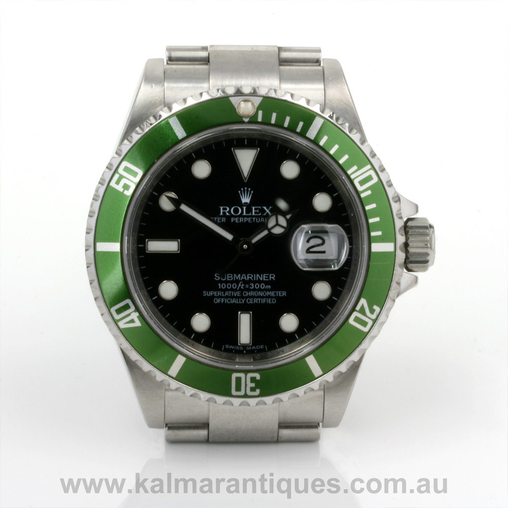 rolex submariner green bezel 16610. Black Bedroom Furniture Sets. Home Design Ideas