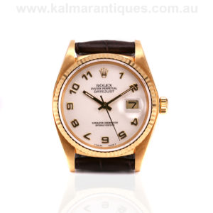 18ct gold Rolex Datejust 16018 with the jubilee dial