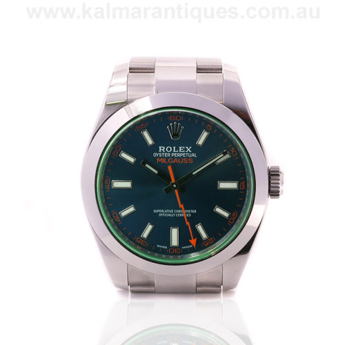 2017 Rolex Milgauss 116400GV with box and papers