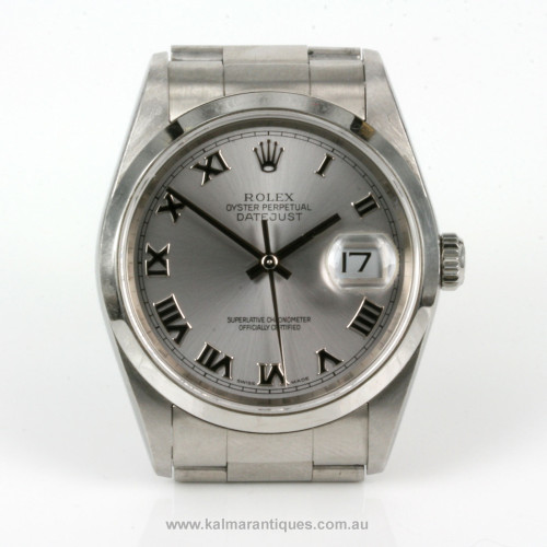 Stainless steel Rolex Oyster Datejust model 16200