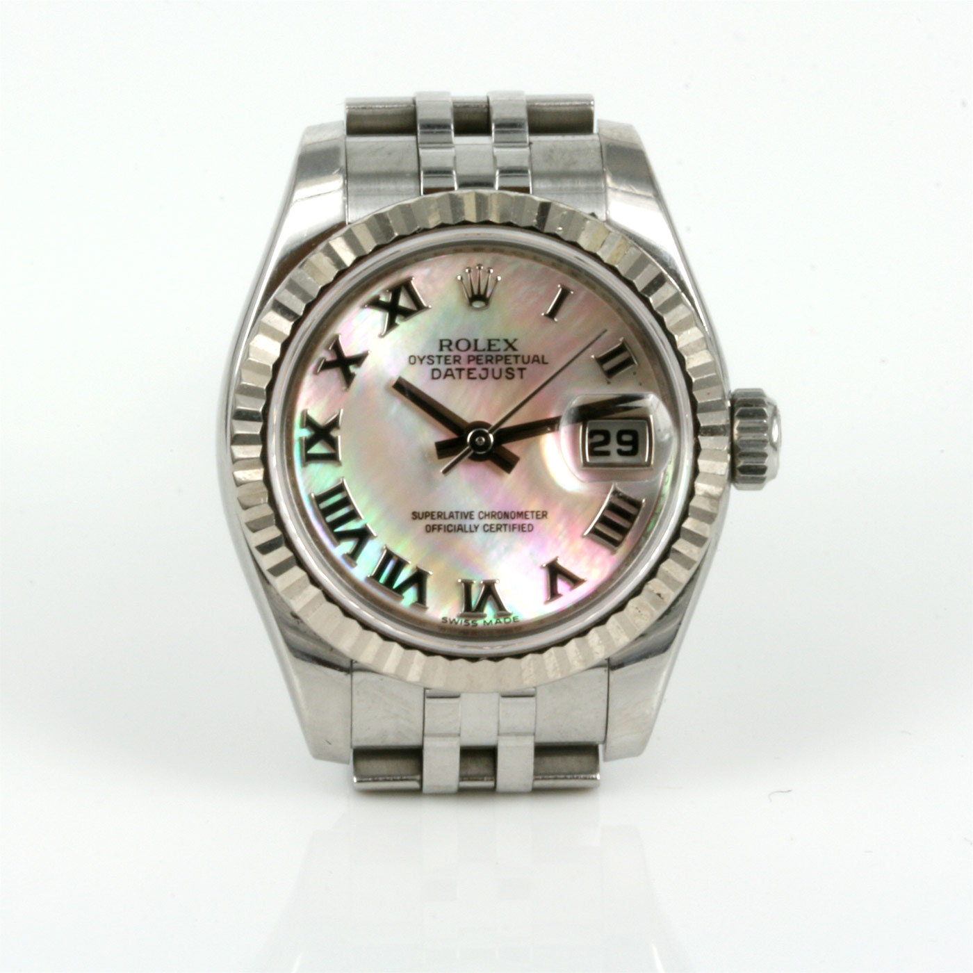 Buy mother of pearl rolex datejust model 179174 sold items sold rolex watches sydney for Pearl watches