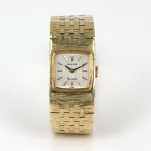 18ct gold ladies Rolex Precision watch.