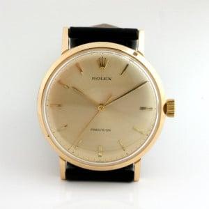 Gents 18ct 1965 Rolex Precision watch.