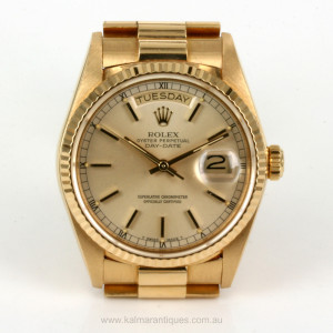 18ct Rolex Day Date President model 18038
