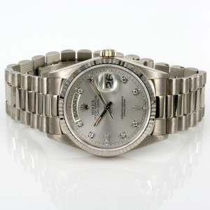 White gold diamond dial Rolex President 18039G