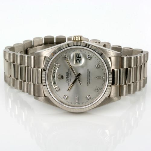 White gold diamond dial Rolex President 18039G