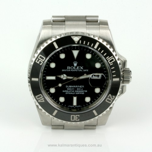 2011 ceramic bezel Rolex Submariner 116610LN