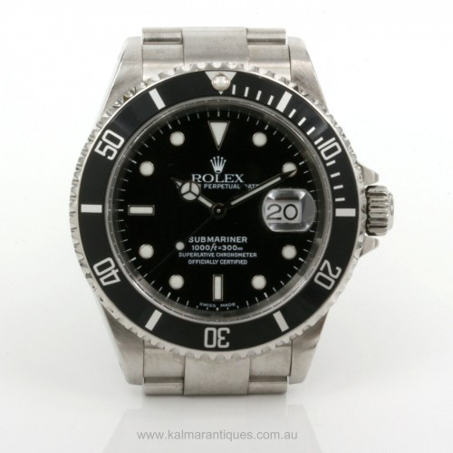 2002 Rolex Submariner 16610 with box & papers