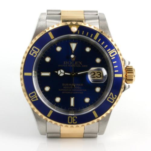 Ever popular Rolex Submariner model 16613 in gold & steel.