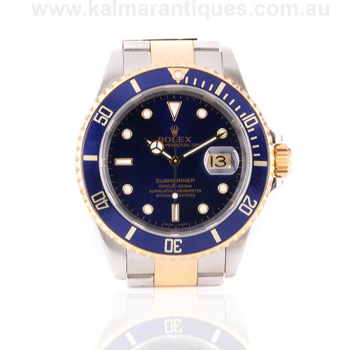Gold and steel Rolex Submariner 16613
