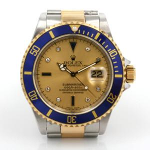 Sapphire & diamond dial Rolex Submariner model 16613