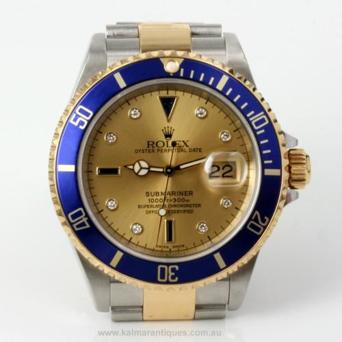 Sapphire & diamond Rolex Submariner 16613