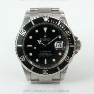 2008 Rolex Submariner 16610 with box & papers