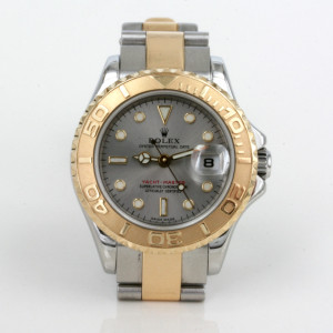 Ladies Rolex Yachtmaster in gold and steel.