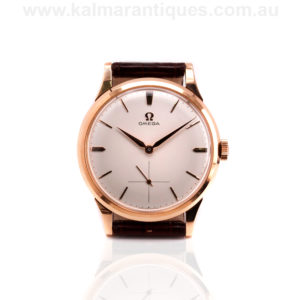 Vintage Rose gold Omega watch reference 14707