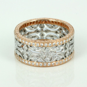 Rose & white gold diamond eternity ring