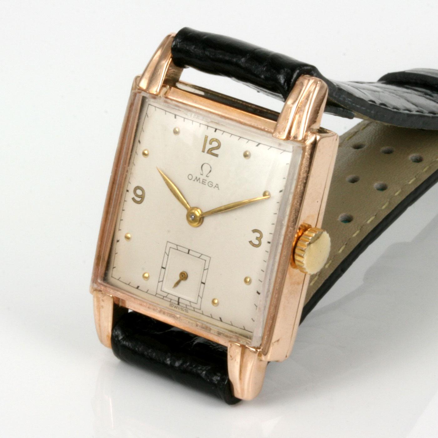 Buy 1947 rose gold vintage omega watch sold items sold omega watches sydney kalmarantiques for Omega watch vintage