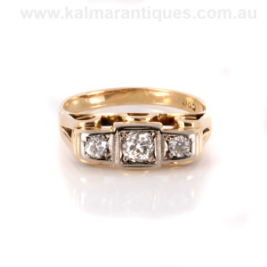 Rose gold Retro era diamond ring