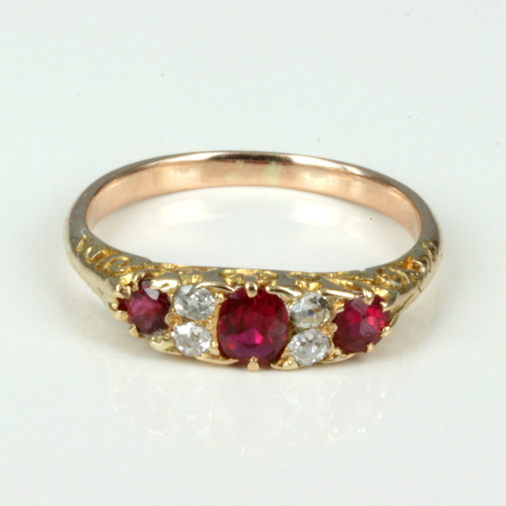 Buy Antique Ruby Amp Diamond Ring C1900 Sold Items Sold