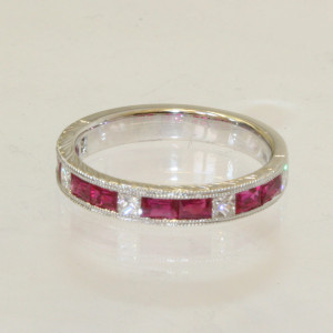 Ruby and Diamond eternity ring.
