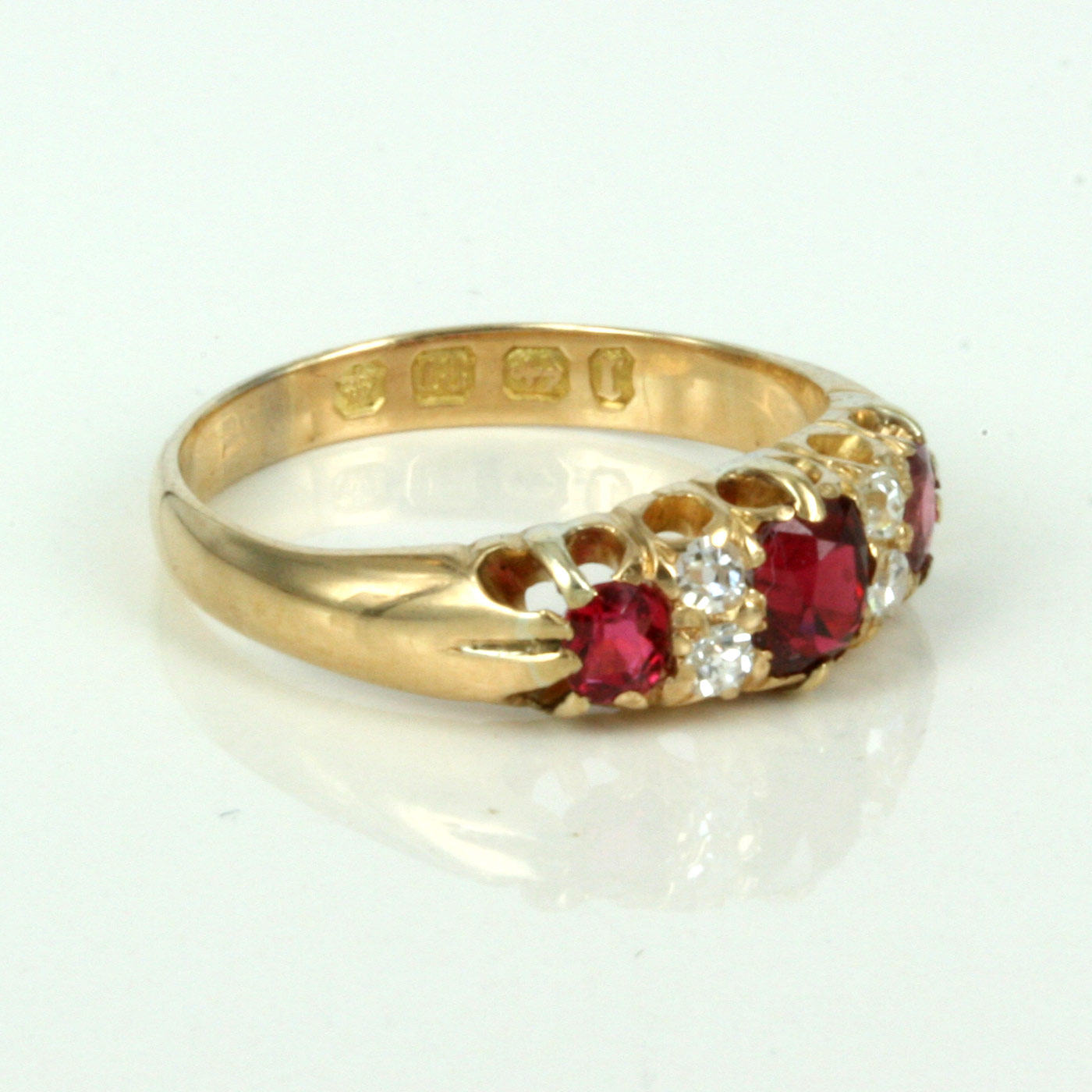 ruby and diamond ring made in 1891 sold items sold rings
