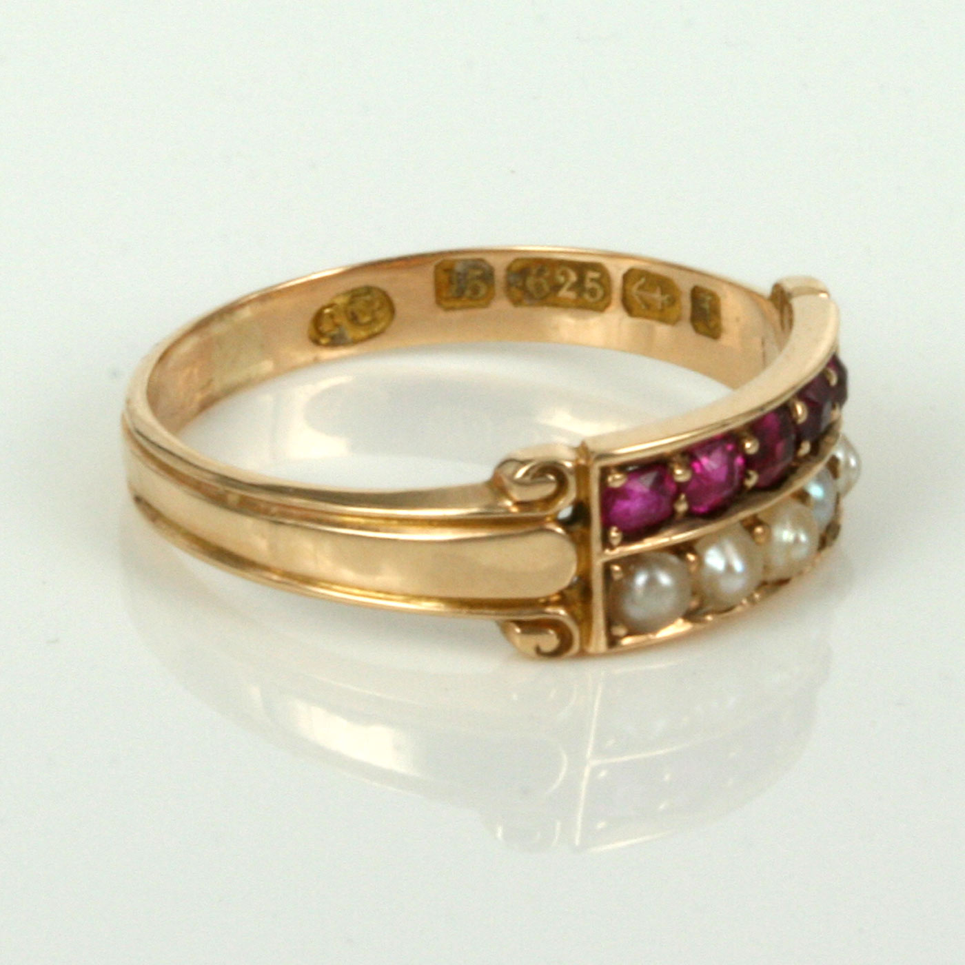 Buy Antique Ruby And Pearl Ring Made In 1885 Sold Items