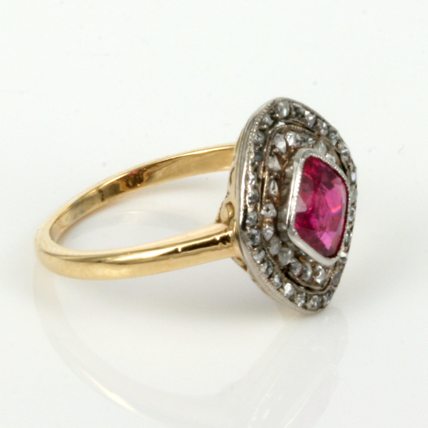 buy antique ruby cluster ring sold rings