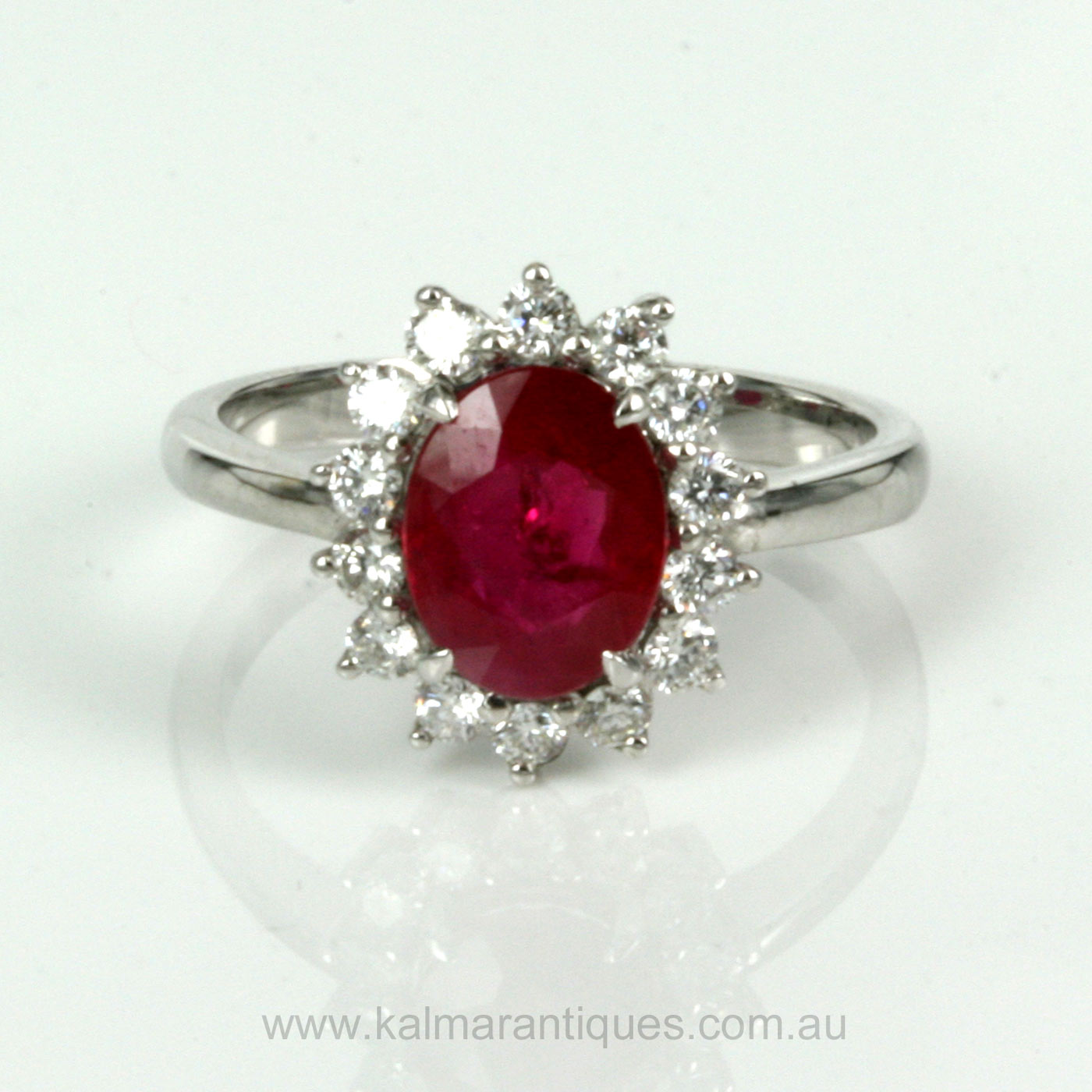 white product gemstone engagement arya image with and ring diamond ruby gold jewellery in
