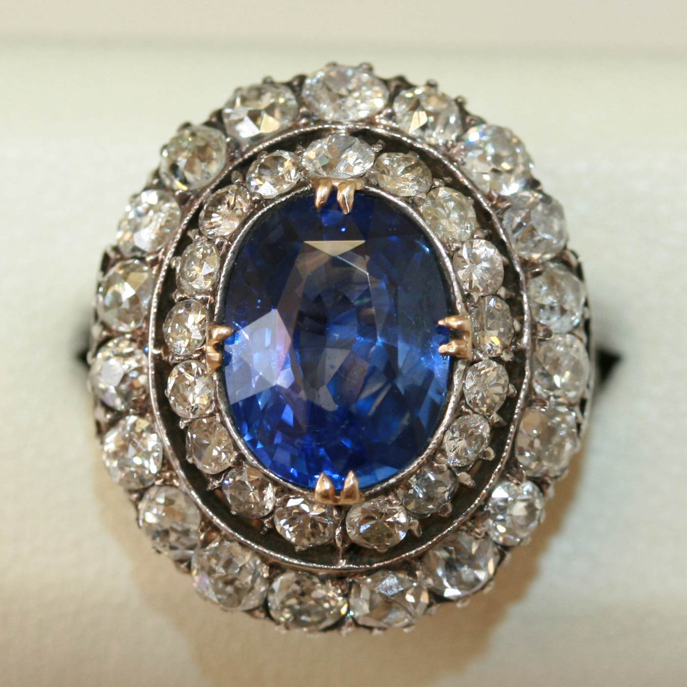 antique sapphire and engagement ring