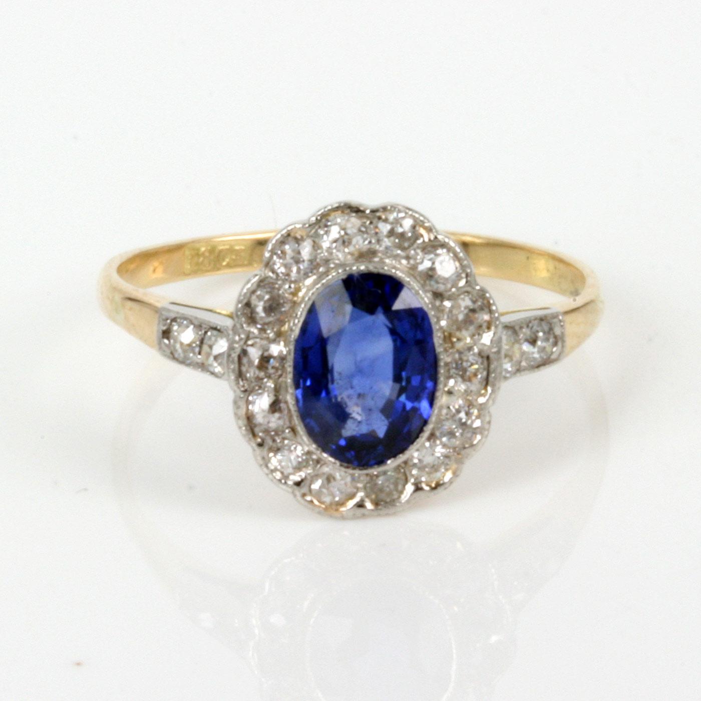 Sapphire As Engagement Ring Sapphire Diamond Ring