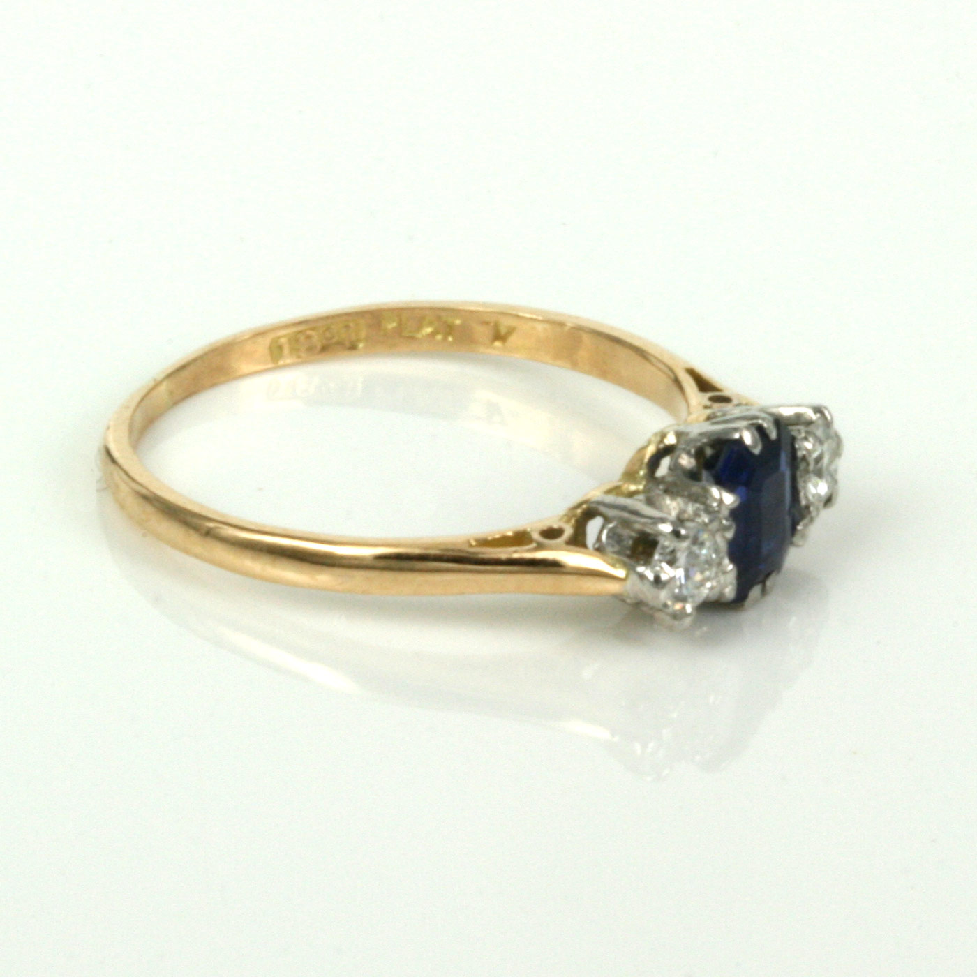 1930's Sapphire And Diamond Engagement Ring