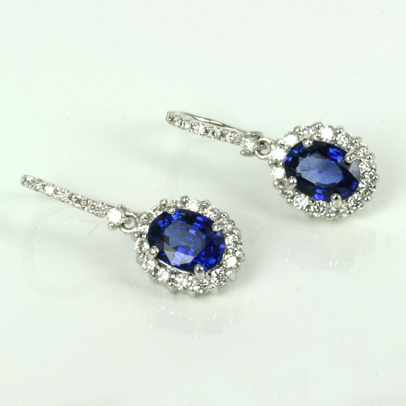 Buy 3 15 Carats Ceylonese Sapphire And Diamond Drop