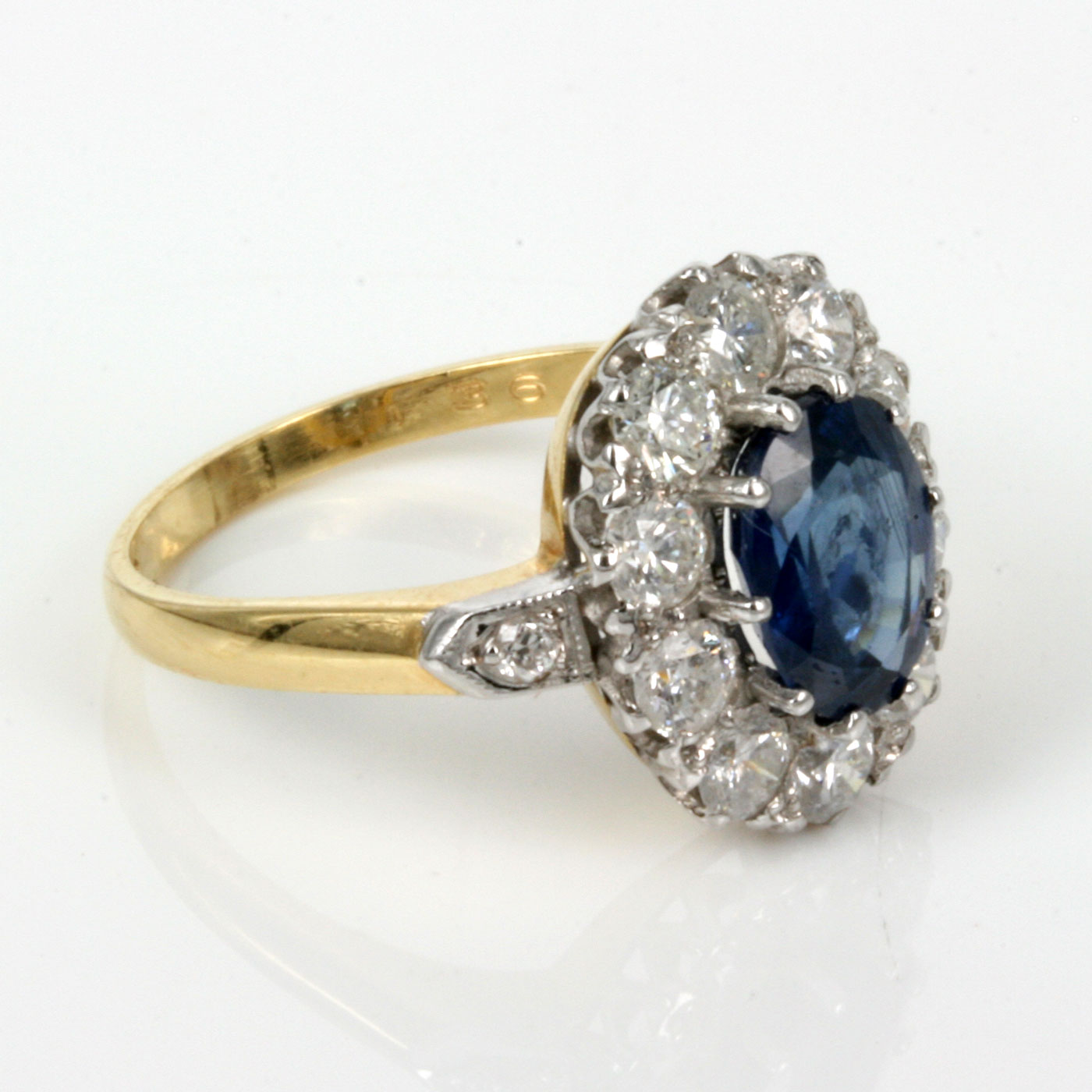 buy antique untreated sapphire engagement ring