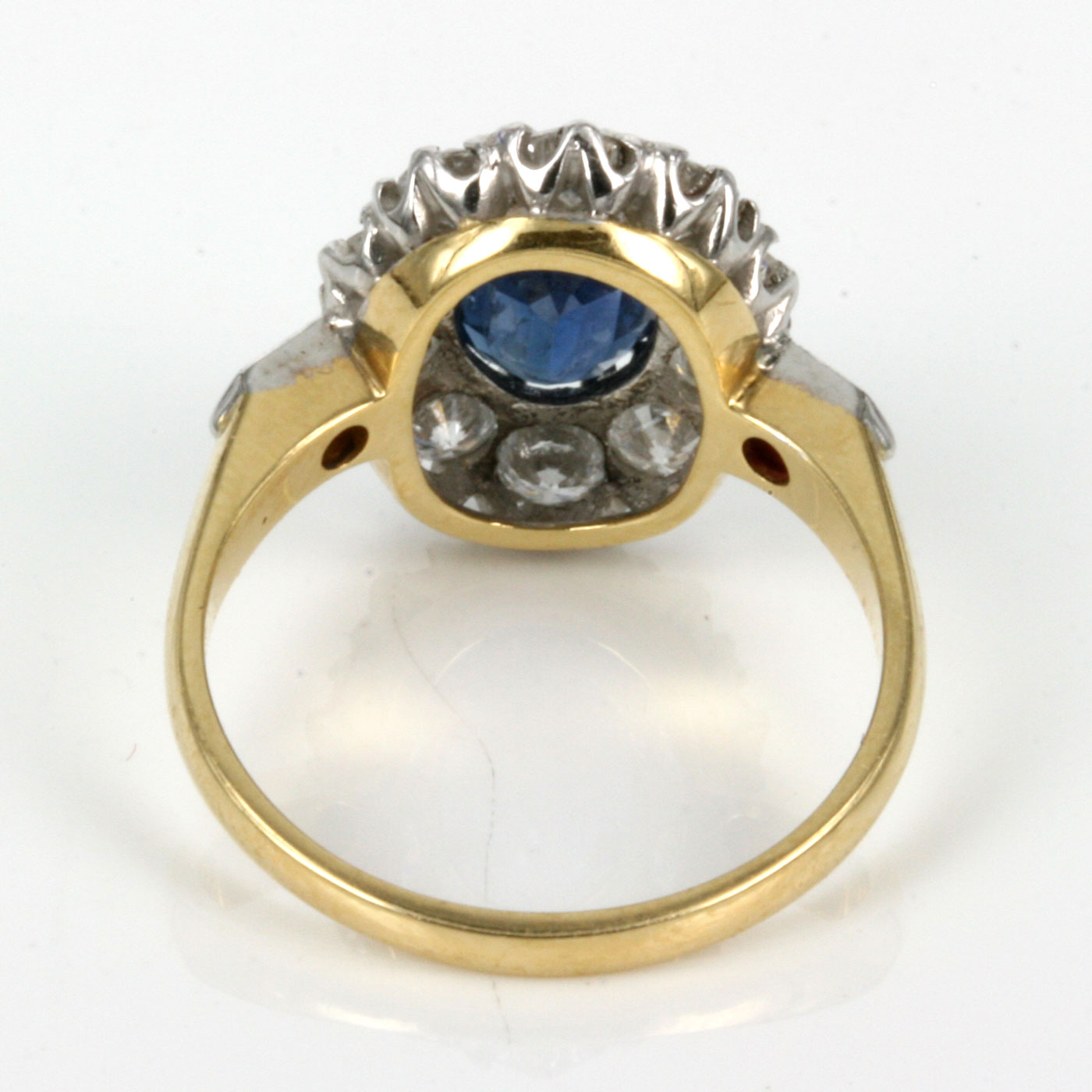 Buy Antique untreated sapphire & diamond engagement ring Sold Items Sold
