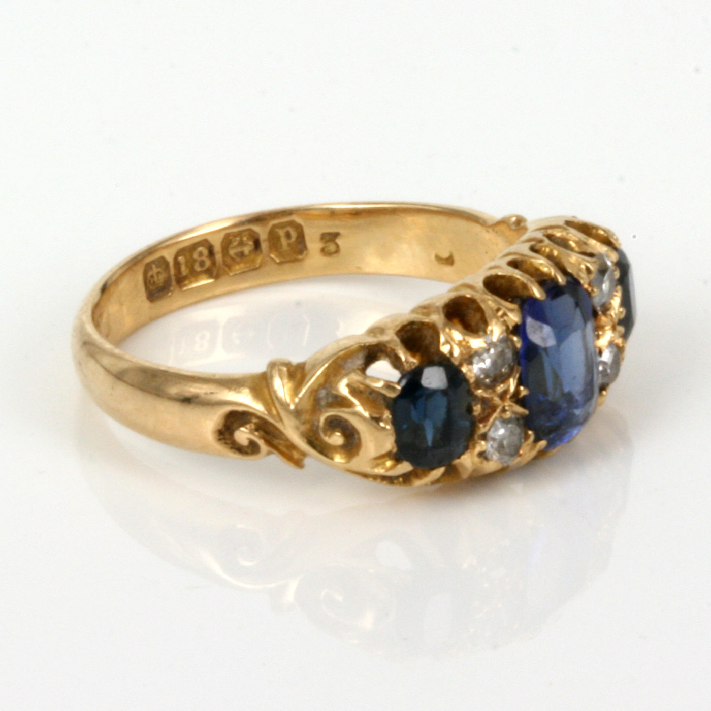 buy antique sapphire and diamond ring made in 1864 sold. Black Bedroom Furniture Sets. Home Design Ideas