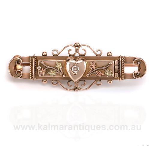 Secret Mizpah locket brooch