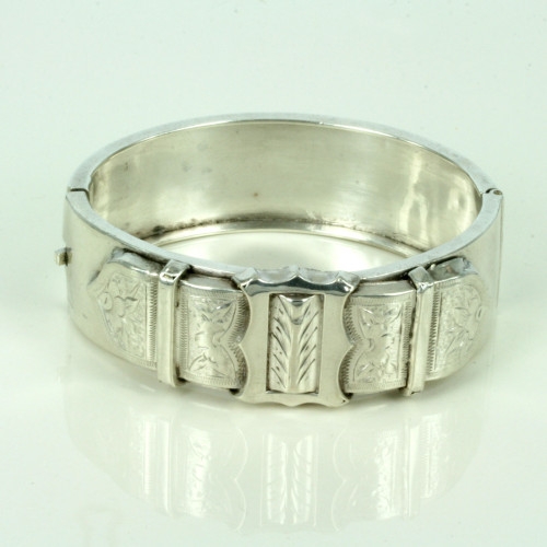 Antique silver buckle bangle.