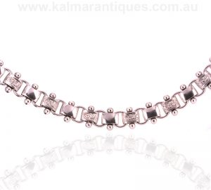 Antique sterling silver collar from the Victorian era