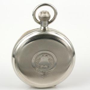 1907 antique sterling silver hunter pocket watch