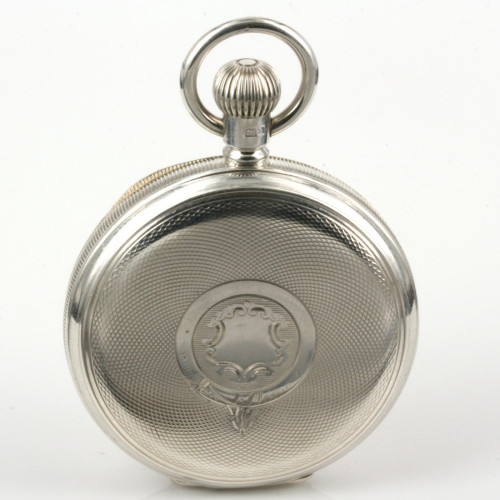 1907 antique sterling silver hunter pocket watch