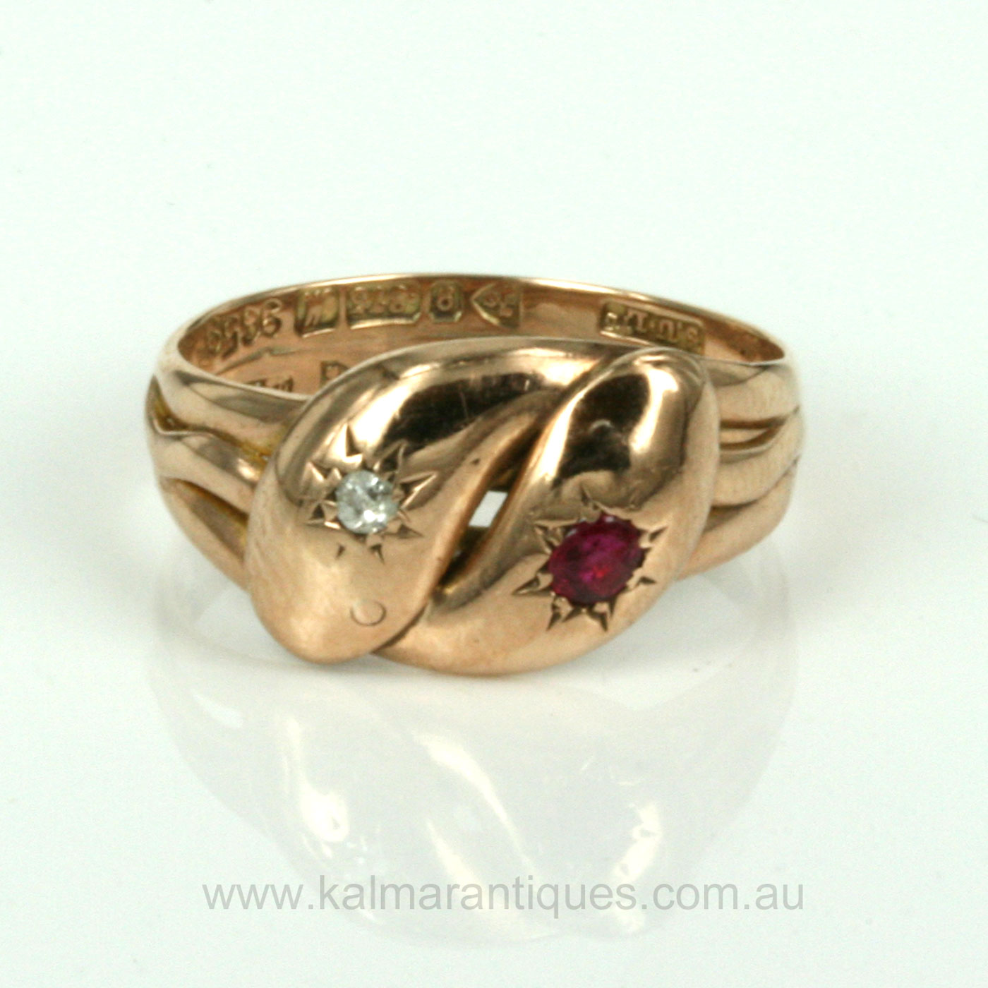 Buy Antique Ruby And Diamond Snake Ring Made In 1912 Sold