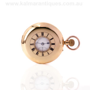 T Gaunt and Co demi hunter pocket watch