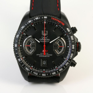 Tag Heuer Carrera black PVD watch.