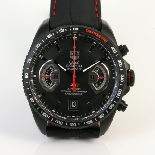 Tag Heuer Carrera black PVD watch.