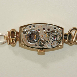 9ct tonneau shaped Rolex watch